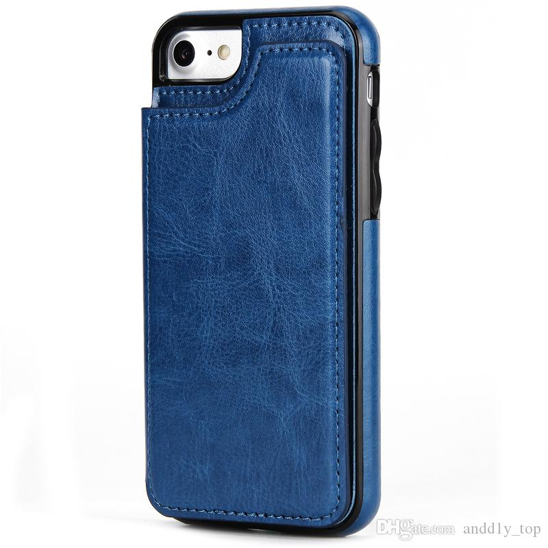 For iphone X 8 7 Wallet Leather Case Card Money Slots Slim Multi-functional Folio ID Window Shockproof TPU Cover for S9 S8 Note8