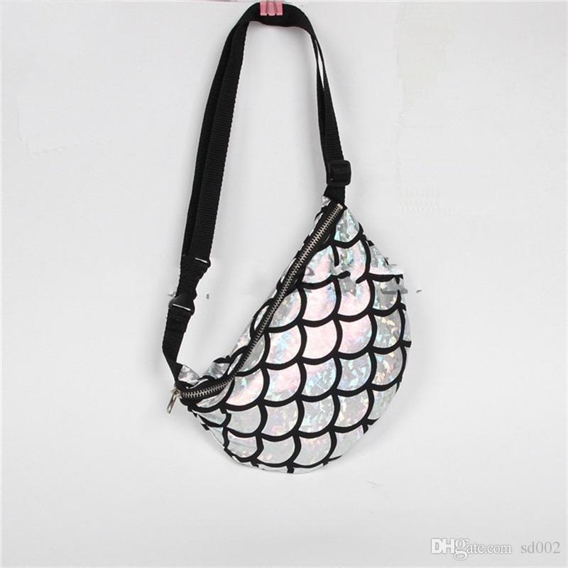 Maam Dinner Handbag New Pattern Zipper Shoulder Bag Multifunction Mermaid Scale Customized Storage Bag Popular 14jb V