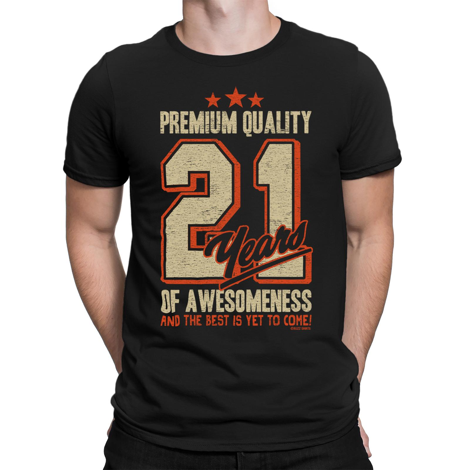 Mens BIRTHDAY T Shirt 21 Years Of AWESOMENESS 21st Gift Dad Uncle Son Brother Funny Tee Buy Designs From Sonyoasis 1101