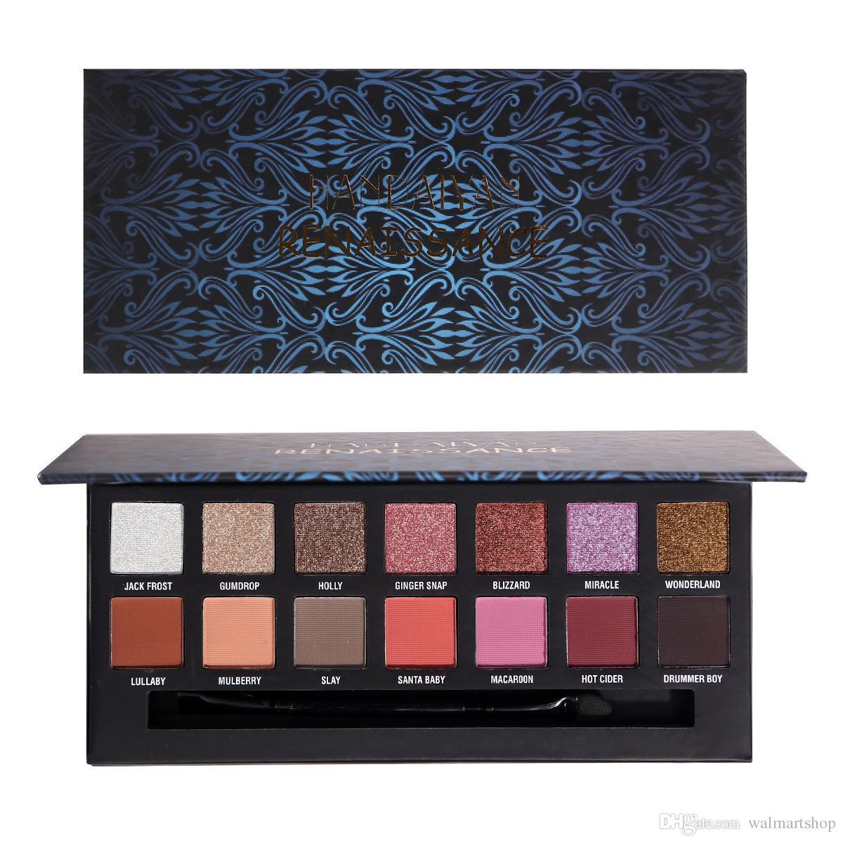 Beleza New glitter Eyeshadow paleta Maquiagem Moda Vintage 14 Cores Sombra Paleta Matte Shimmer sombra Bea480
