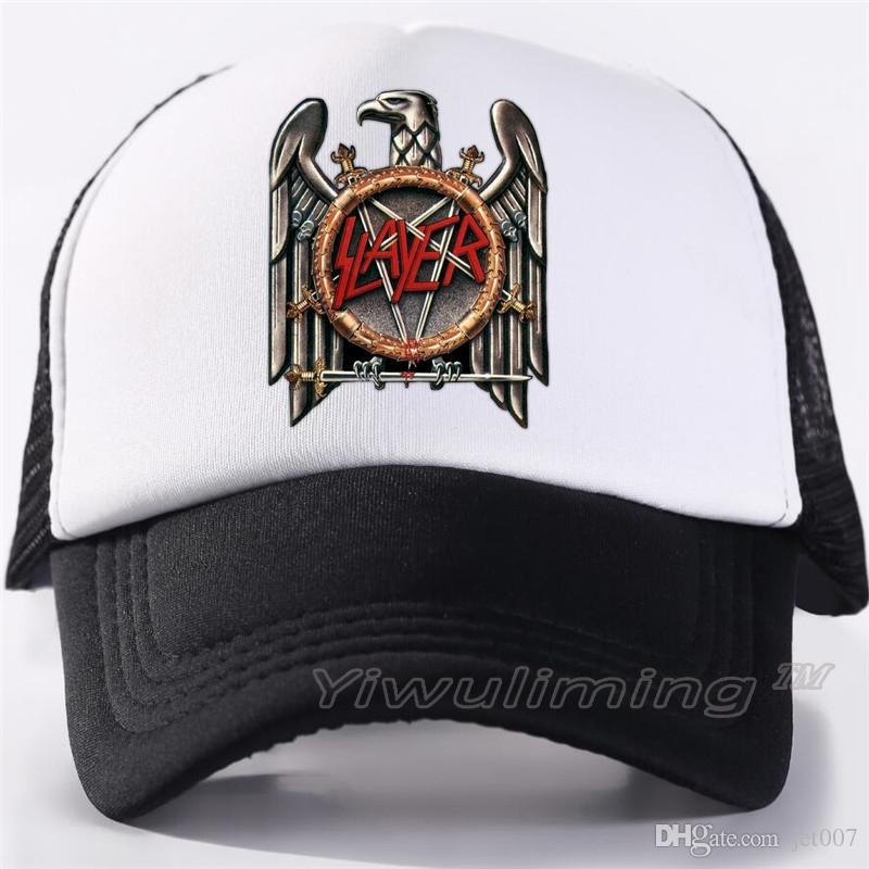 Rock Men Women Trucker Cool Caps Slayer Band Speed Metal Rock Mesh Summer  Cool Summer Cool Baseball Mesh Net Trucker Cap Hats Online Cap Online From  Jet007 9bc4b9b3d