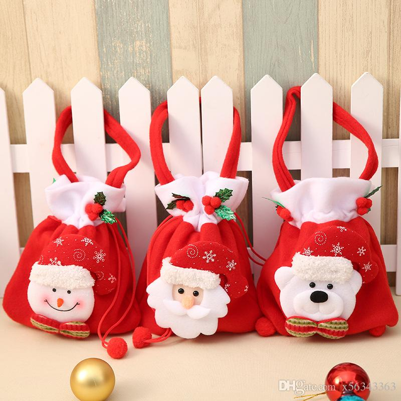 merry christmas decorations for home accessories christmas gift candy bag santa claus gift bag home party christmas decoration supplies christmas trimming