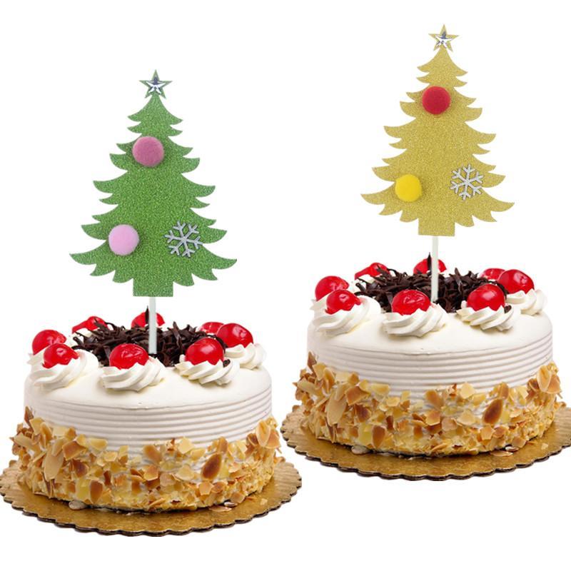Gateau De Fete De Noel.20 Pc Merry Christmas Tree Gâteau Toppers Drapeaux Enfants Anniversaire Père Noël Cupcake Topper Fête De Mariage Baby Shower Cuisson Diy Décor