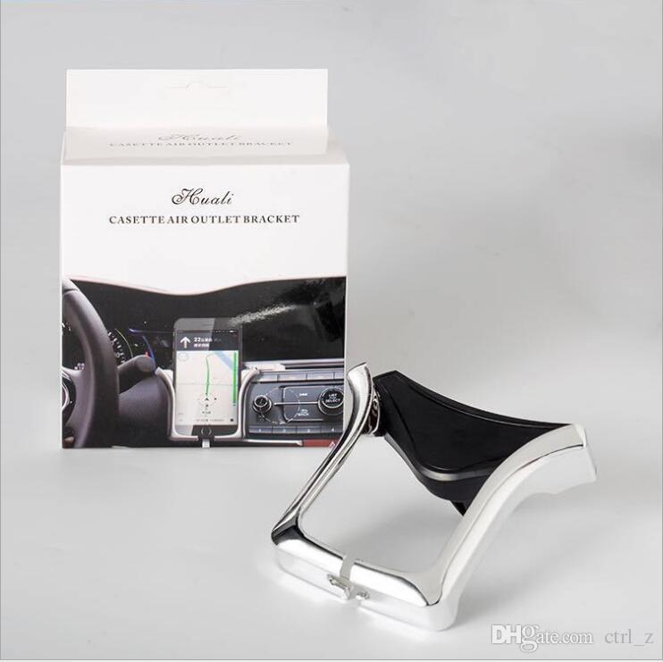 Titular móvel do carro U Suporte de Ventilação de Ar Suporte de Montagem Ajustável para 4.0-6.0 polegada Smartphone GPS com Pacote de Varejo