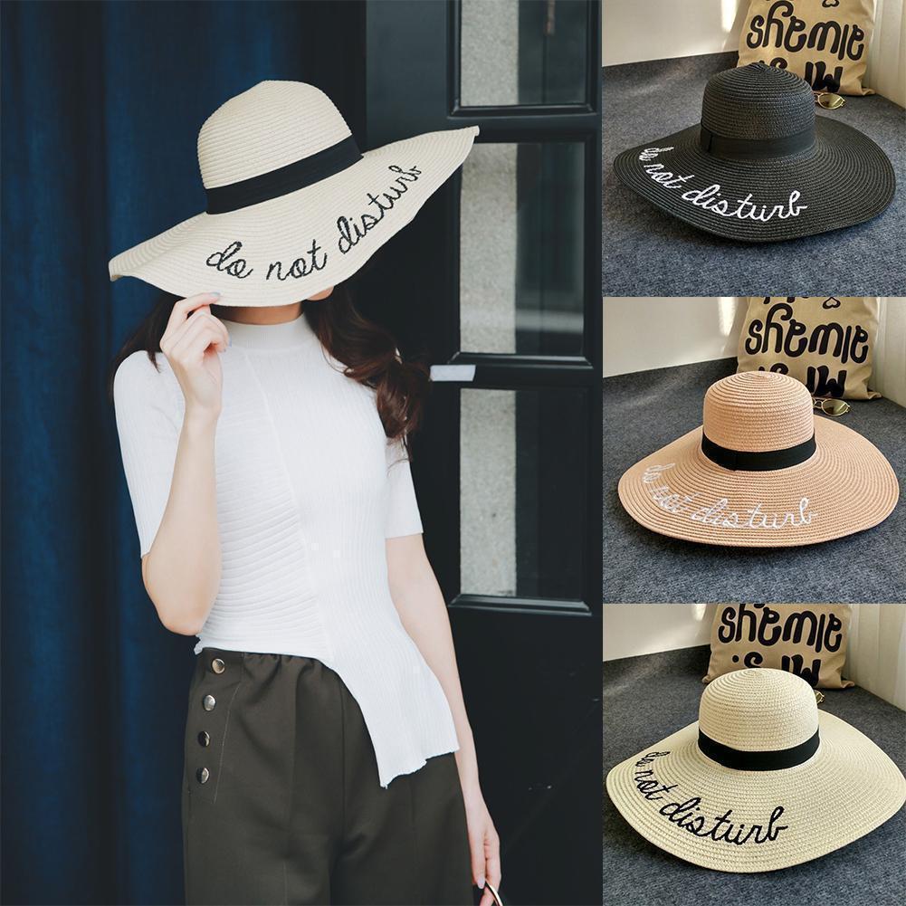 c008afa8f Casual Womens Summer hat Wide Brim Foldable Sun Hats Large Straw Holiday  Beach Cap hot sale