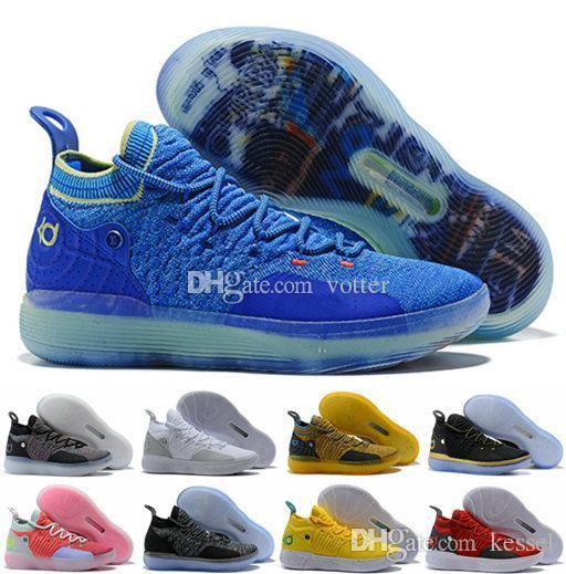 factory price cd0fa a7f77 Compre 2018 KD 11 EP Elite Baloncesto Zapatos 11s Hombre Multicolor  Melocotón Jam Hombres Zapatillas Doernbecher Kevin Durant 11 KD11 EYBL All  Star BHM ...