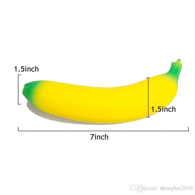 Jumbo Squishy Toys Banana Slow Rising Cellphone Charms Pendant Kawaii Cute Stress Relieve Squeeze Bread Kids Toys Gift