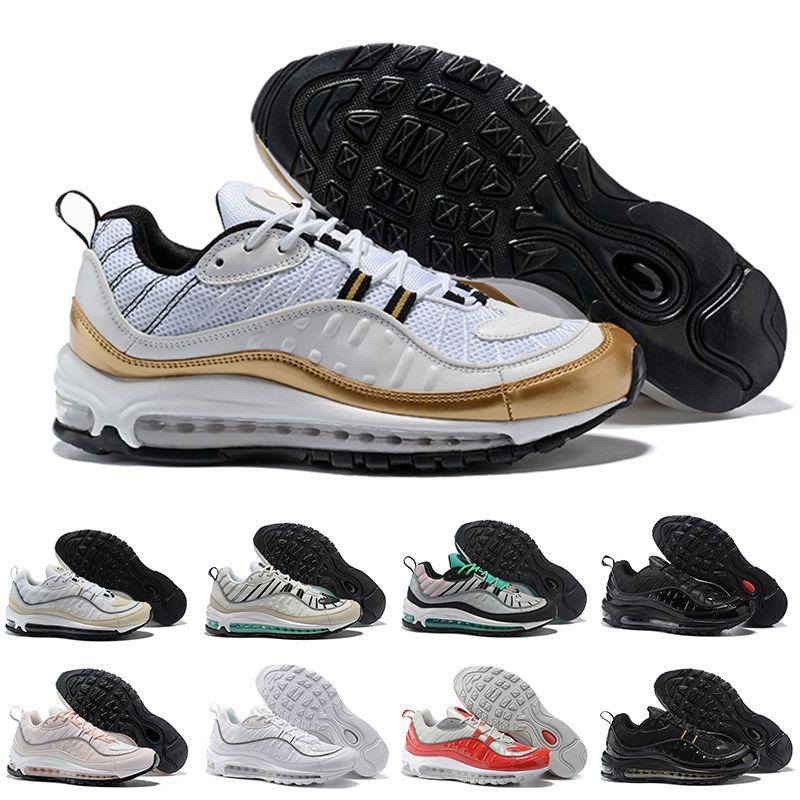 low priced b8fa3 378e1 Acheter Nike Air Max 98 Nouveau Vibrant Air Og 98 Gundam Cone Chaussures De  Course Hommes 98s Noir Blanc Rouge Marine Fluorescent Vert Sportive  Sneakers Us ...