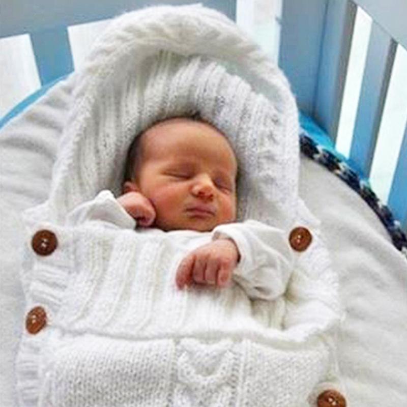 Großhandel Neugeborenen Baby Schlafsack Stricken Häkeln Winter Mit