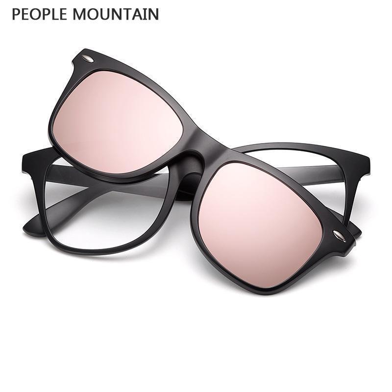Ultra Light 2 In 1 Polarized Magnetic Clip On Sunglasses Over Prescription  Glasses Men Women Fit Over Magnetic Sunglasses Polarised Sunglasses Baby ...