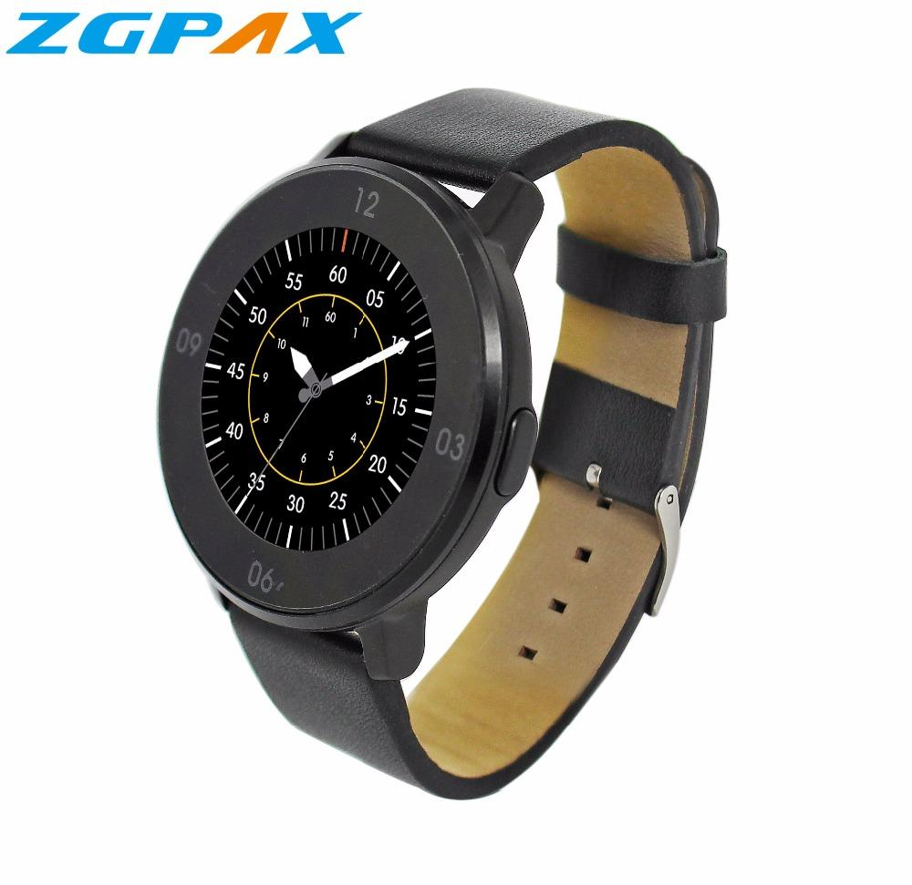 09db034a55f7 Celulares En Venta Venta Al Por Mayor S366 Smart Watch Facebook Para IOS  Android Phone Sport Hombres   Mujeres Relojes Luxury Leather Watch Round  Screen ...