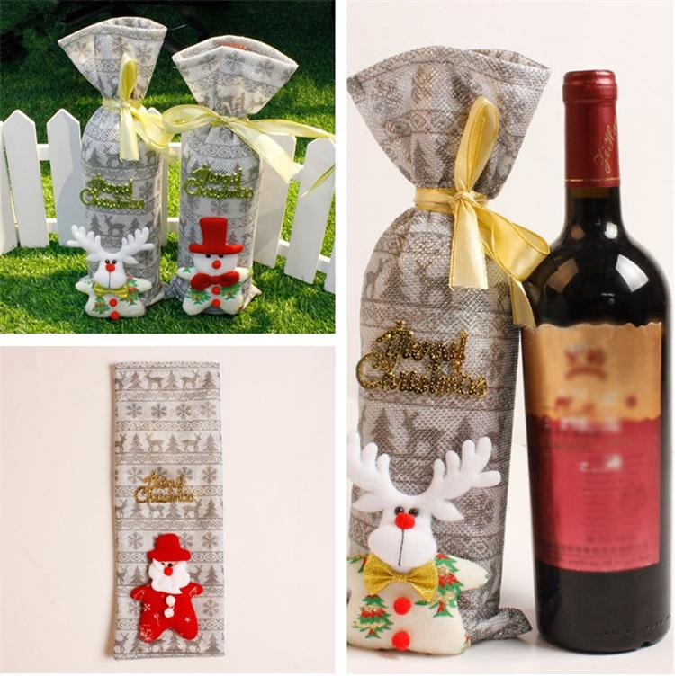 wine bags christmas gift bag gift merry bar tools best gift red christmas wine bottle cover bag t5i085 xmas house decorations xmas ornament from tinalt - Wine Christmas Gifts