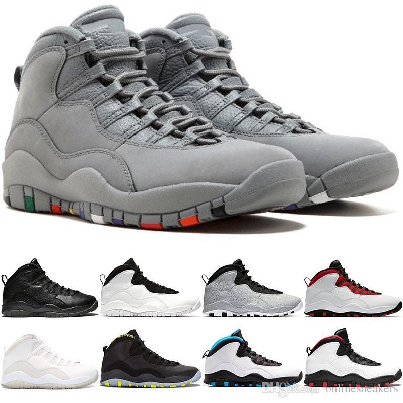 sports shoes 09170 90d7a Großhandel Nike Air Jordan Retro Männer Basketball Schuhe 10 10s Westbrook  Klasse Von 2006 Zement Ich Bin Zurück Cool Grau Schwarz Weiß Günstige  Herren ...