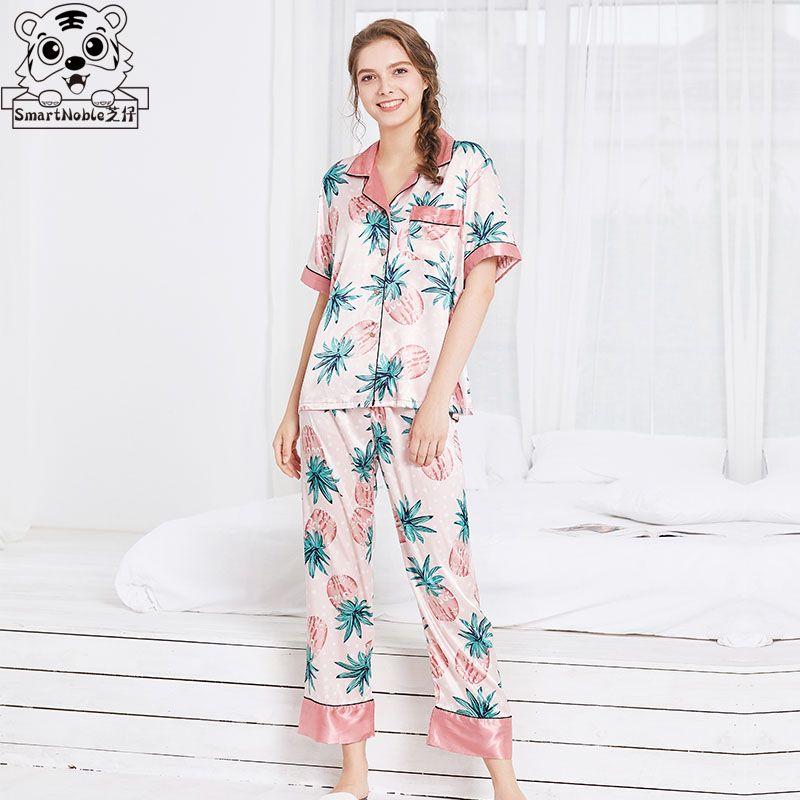 9a57e3ef2e 2019 Pajamas Set Pajamas For Women Satin Sexy Clothes Sleepwear Set  Nightdress Pants Silk Homewear Winter Clothes Women Womens Tops From  Qiangweiflo