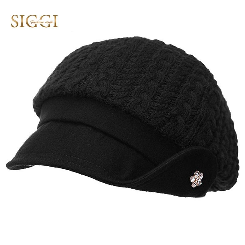 a168d695a3a SIGGI Spring Women Berets Hats Bonnets Solid Cotton Flower ...