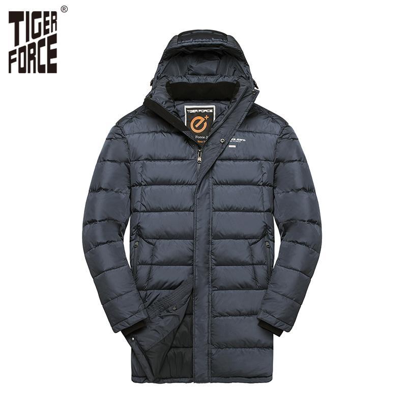 Großhandel TIGER FORCE 2018 Plus Size Herren Winterjacke Mittellange  Gepolsterter Mantel Mode Lässig Warmer Mantel Männer Mit Kapuze Mantel  Große Größe ... 570adcb87b