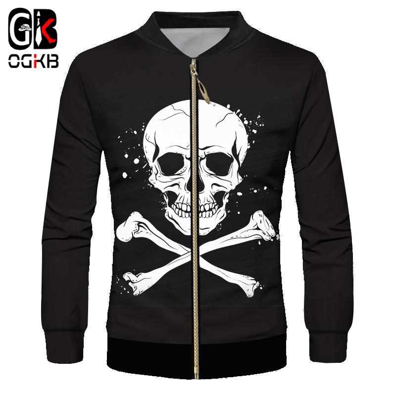 748f58407df8 OGKB 3d Printed Black Spatter Pirate Jacket Symbol Cool Hiphop Coat Spring  Fall Clothing Unisex Tracksuit Long Sleeve Streetwear Womens Jackets Winter  ...
