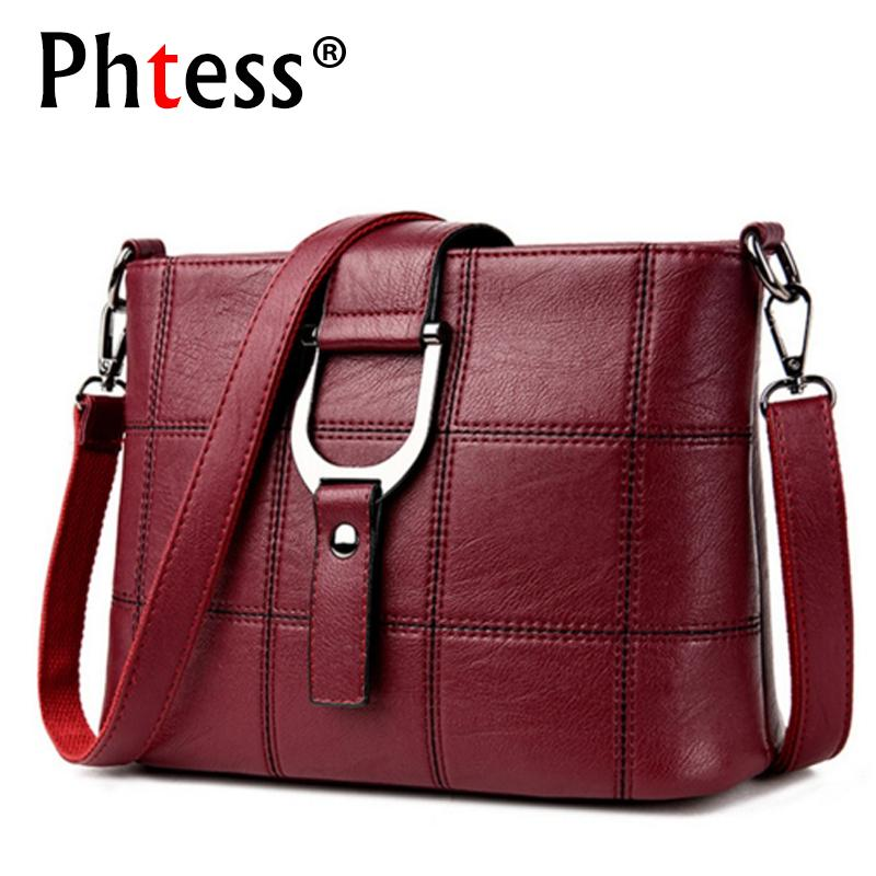 c2d627a92b PHTESS Luxury Plaid Handbags Women Bags Designer Brand Female Crossbody Shoulder  Bags For Women Leather Sac A Main Ladies Bag Discount Designer Handbags ...