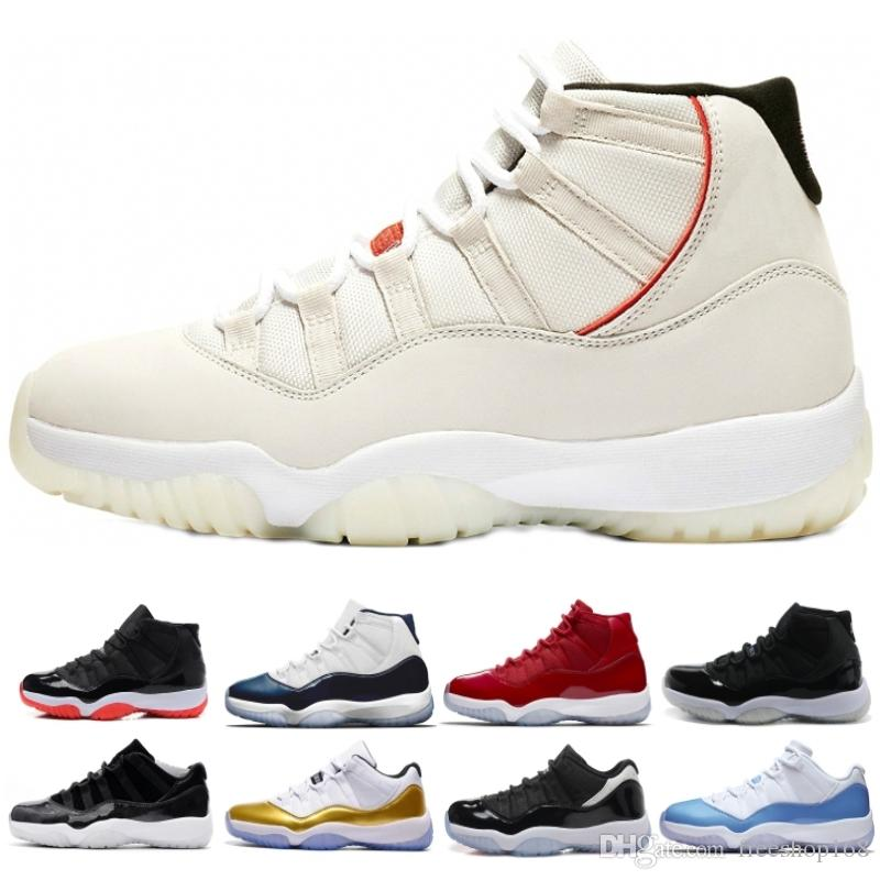 99732d6dd479b6 Mens 11 11s Basketball Shoes XI Platinum Tint Gym Red Midnight Navy Black  Bred Concord Space Jam 11s Mens Womens Sports Sneaker Luxury Shoes Couple  Shoes ...