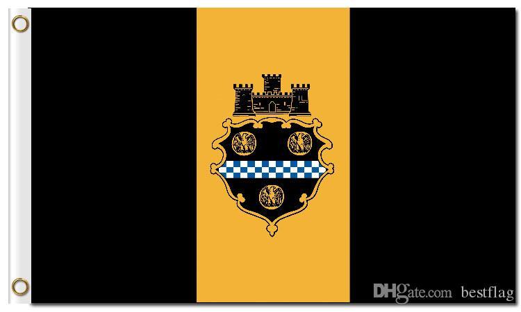 Hot Sale Digital Printing Pittsburgh City Flag 3x5ft Polyester Banner  Flying 150x90cm Custom Flag of Pittsburgh