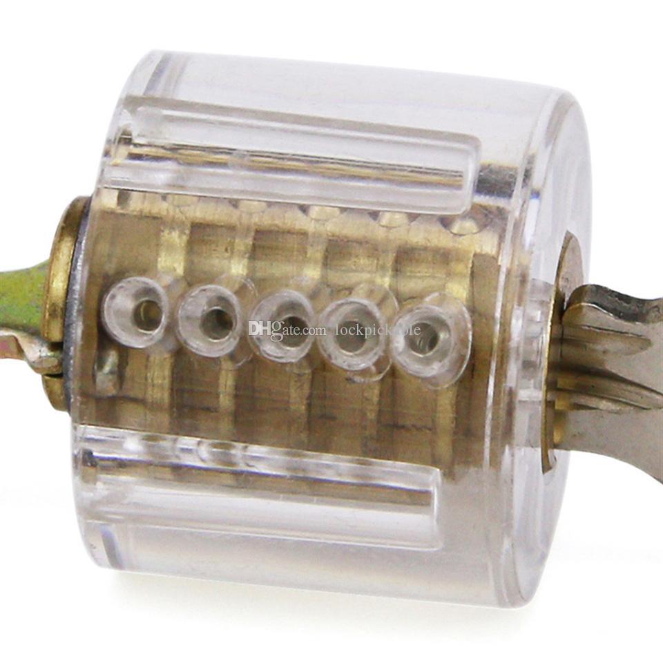 Clear 5 Pin Rim Cylinder Practice Lock - Locksmith Training Practice Lock for Beginners