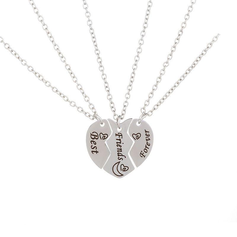 Moda collane cuore d'argento pendenti le donne migliore amico collane piccolo pendente collane gioielli di alta qualità regalo amico / alta qualità