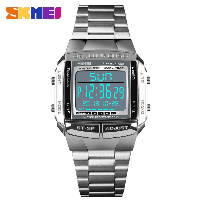 397b0ecfde4 SKMEI Luxury Sport Watch Men S Watch Digital 5 Alarm Countdown Wrist Watches  Top Clock Fashion Outdoor Relogio Masculino 1381 Watches Online Skeleton  Watch ...