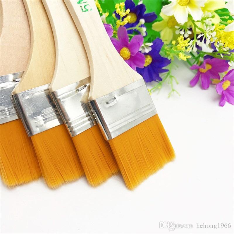 Практические нейлон краска для волос кисть деревянная ручка художники гуашь акварель акриловые кисти художественные принадлежности 12 шт. набор 1 3wg 12 Y