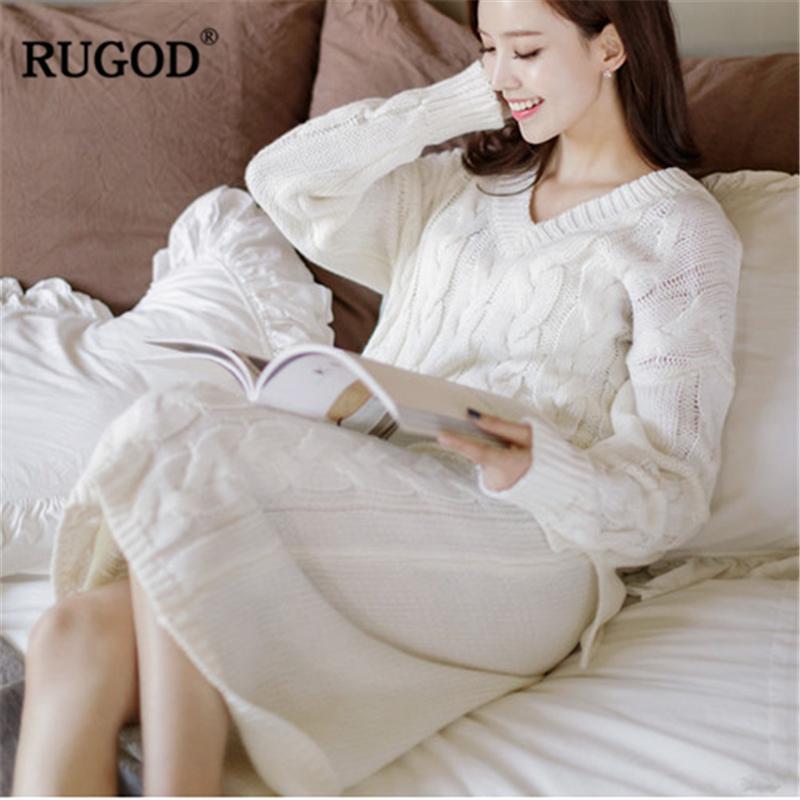2019 Rugod 2018 Newest Women Winter Sweater Sets Female Long Sleeve