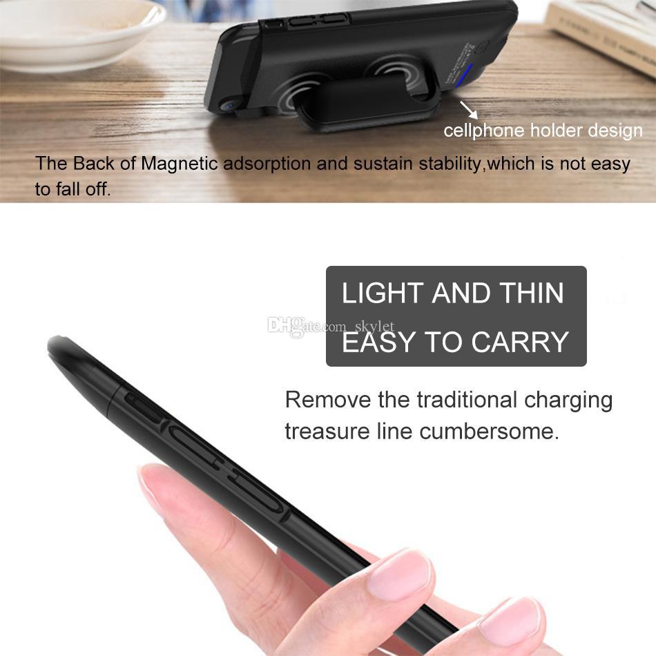 Original caixa de bateria para iphone xs max xr 7 8 plus tampa traseira banco de potência móvel titular do telefone magnético sem fio tampa de carregamento na caixa de varejo