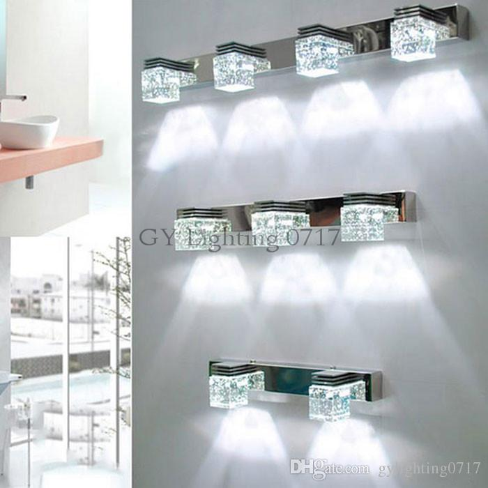 2018 110v 220v 240v led crystal bathroom lights clear crystal rain