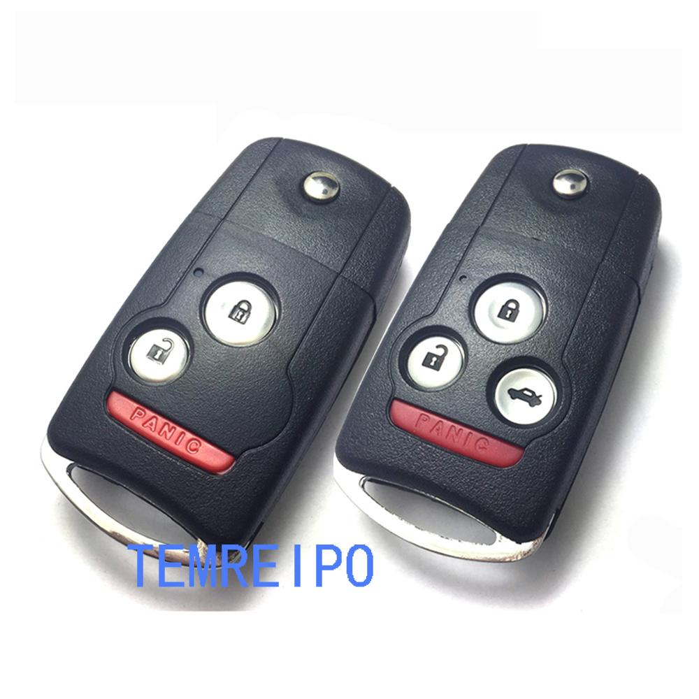 Replacement Folding Remote Flip Key Shell Key Case For Honda Acura - Acura replacement key