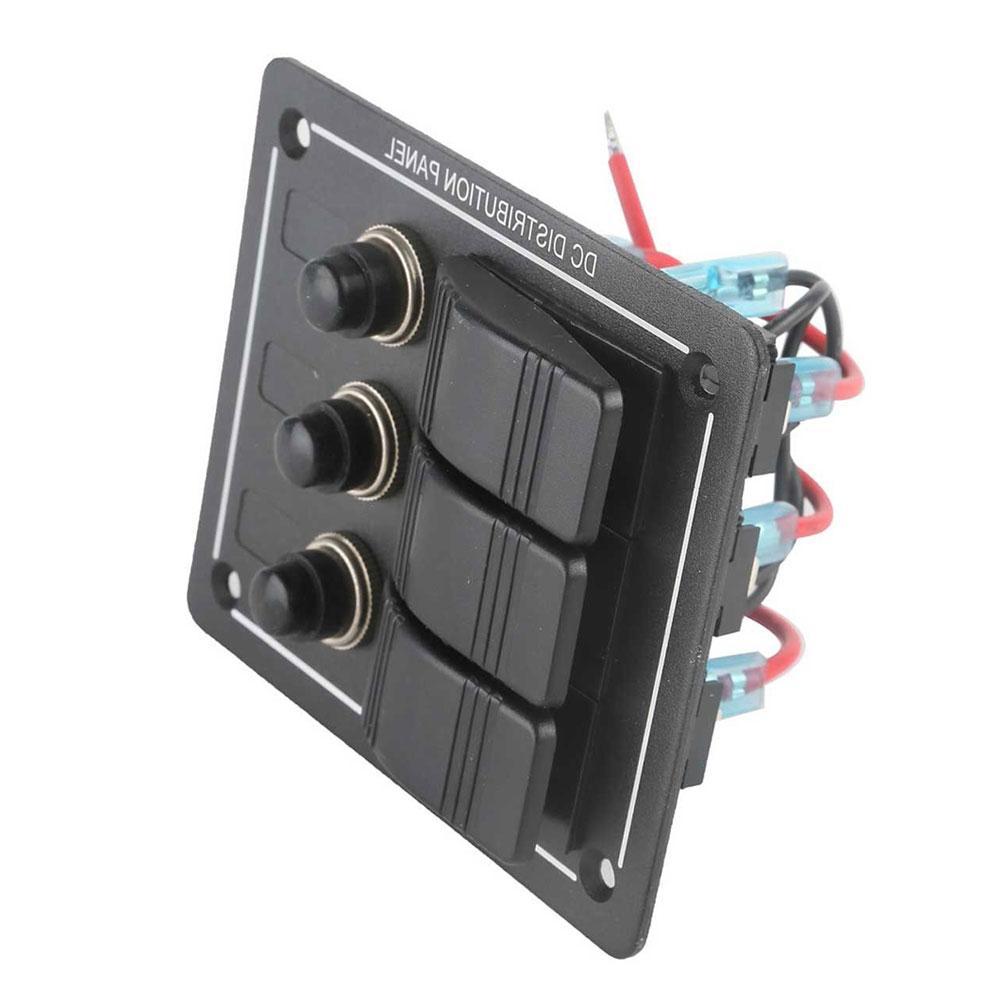 Recessed Waterproof Boat Switch Panel Weatherdeckr 12v Dc Circuit Breaker Gray 8 Gang Car Marine Aluminum 1001x1001
