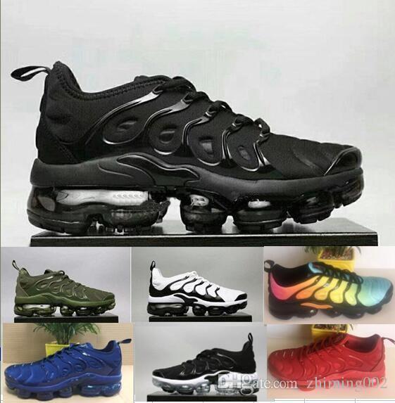 18da95b3e85 ... Dos Homens Sapatos Arco Íris Colorido Branco Preto Vermelho Tn Ultra  Chaussures Plus Sneakers Respirável Sapatos De Corrida Requin 36 45 Nike Air  Max TN ...