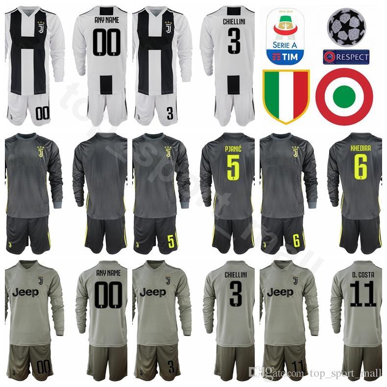 Compre Homens De Futebol De Manga Longa 20 CANCELO Jersey Juventus Série A  5 PJANIC 6 KHEDIRA 11 COSTA 3 CHIELLINI Kits De Camisa De Futebol Unifrom  De ... 38405fb9425c3