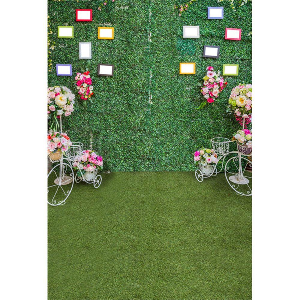 Großhandel Grüne Blätter Wand Hochzeit Fotografie Backdrops Printed ...