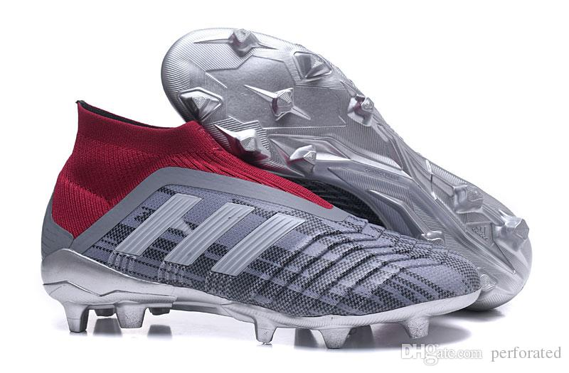 747f72f6cfd Mens High Ankle Youth Football Boots Predator 18+x Pogba FG Accelerator DB  Soccer Shoes PureControl Purechaos Soccer Cleats