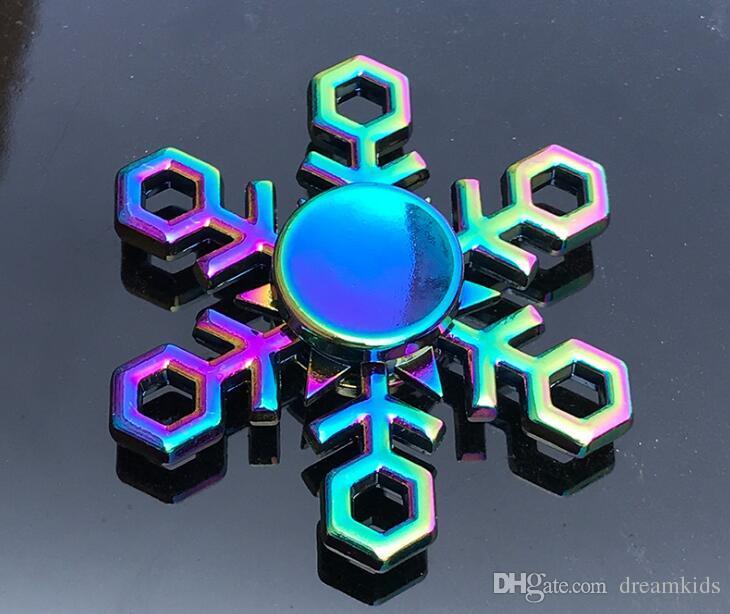 arcobaleno metallo fidget spinner stella fiore cranio drago ala mano Spinner autismo ADHD bambini adulti antistres giocattolo EDC Fidget giocattolo