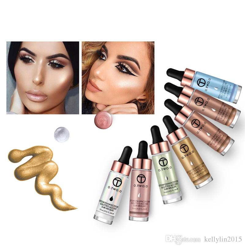Liquid Highlighter Makeup O.TWO.O Brand Cosmetics Magic Face Foundation Eye Brighten Glow Glitter Best Make up Highlighters