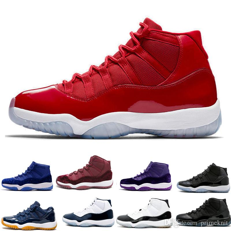 new styles 8cfdc 04f55 New 11 11s Prom Night Basketball Shoes Mens Womens PRM Heiress Barons  Concord Platinum Tint Gym Burgundy Red sports sneakers