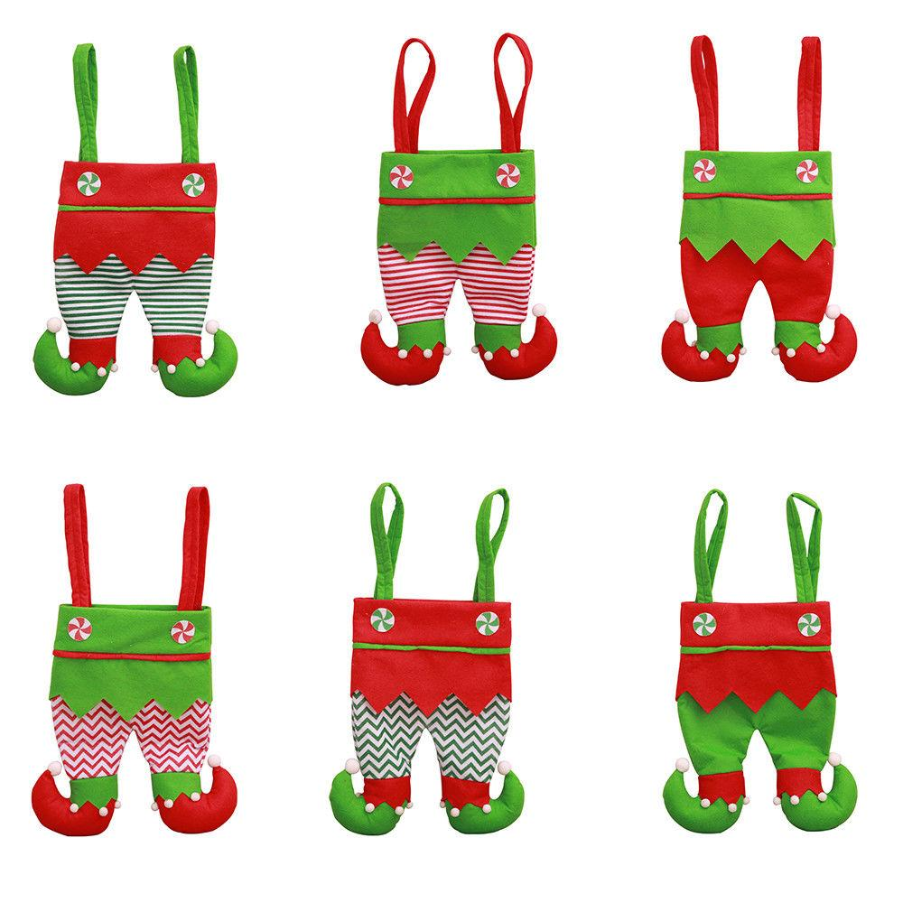 2018 New Christmas Santa Elf Spirit Pants Treat Pocket Candy Bottle Gifts  Bags Decor Beautiful Gift Bag Decorations Of Christmas Decorations With  Christmas ... 5f01b54928f2