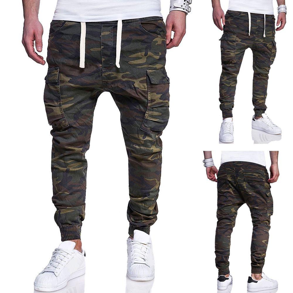 9d8d91a6b81e Acheter 2018 Nouveaux Pantalons Tactiques Pantalons De Survêtement Cargo Pantalons  Hommes De Mode Camouflage Imprimés Saisissants Ceintures Loisirs Joggeurs  ...