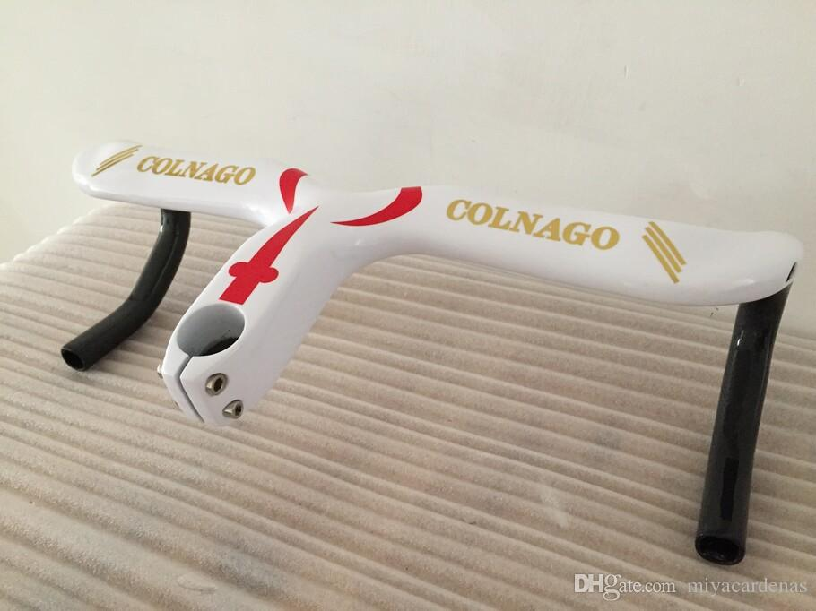 Colnago C60 Gidon Yol Yarışı Full karbon yol Kol Bar Bisiklet Karbon Yol Sap Bar 400/420 / 440x90 / 100/110 / 120mm