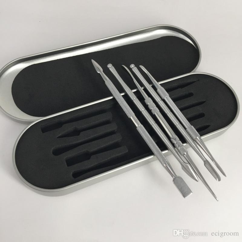 pacchetto della scatola di alluminio superiore GR2 titanio Dabber Cera atomizzatore in acciaio inox Dab strumento di titanio Nail Dabber strumento vaporizzatori a secco di erbe