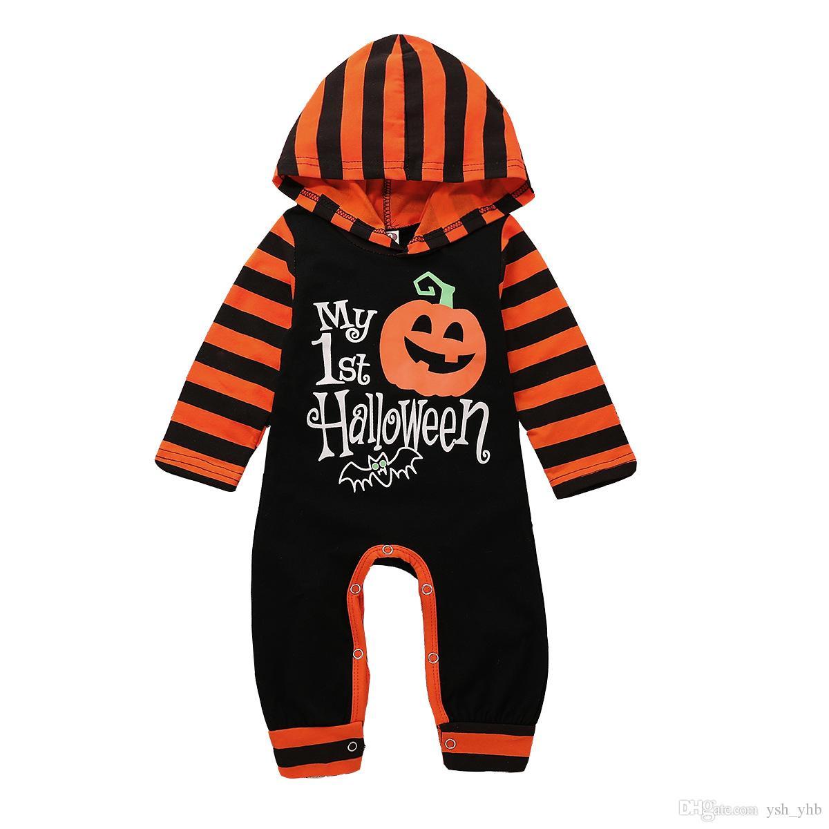 3cdbe8732 Halloween Newborn Baby Girls Boys Pumpkin Print Romper Children ...