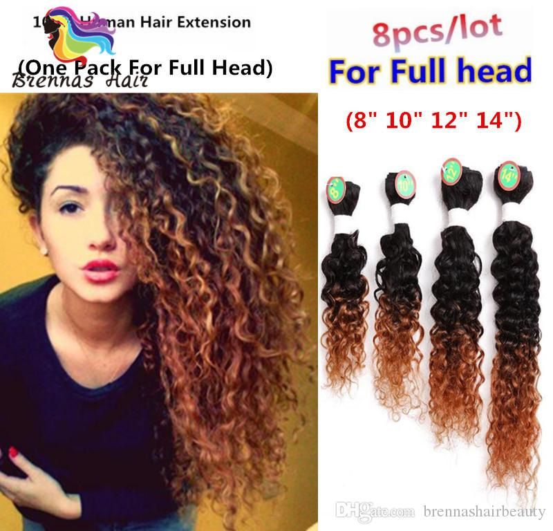 Ombre Bug Human Hair Extension 8 10 12 14 Inch 8bundles 2018 New