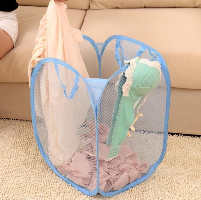 طوي شبكة الغسيل سلة الملابس لوازم التخزين يطفو على السطح الغسيل الغسيل سلة الغسيل بن تعوق شبكة تخزين حقيبة SN075