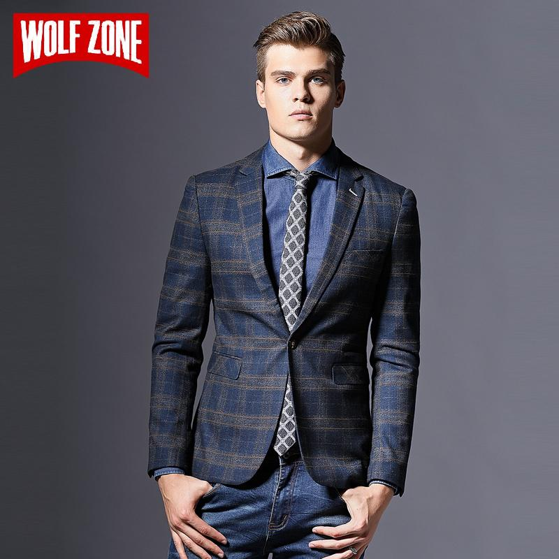 484cee9563b8 Hot Sale Casual Blazer Men Masculino Slim Fit Designs Brand Clothing ...