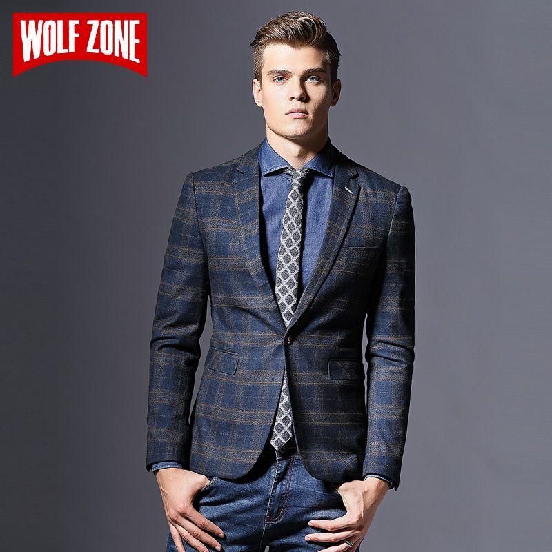 ac69f4190cca Acquista Vendita Calda Casual Blazer Uomo Masculino Slim Fit Disegni  Marchio Abbigliamento Uomo Giacca Autunno Inverno Suit Single Button  Wedding Dress A ...