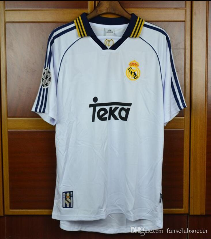 98 99 00 Real Madrid Retro Soccer Jersey RAUL Football Shirts 1998 1999 2000  Redondo Carlos Seedorf Camiseta De Futbol UK 2019 From Fansclubsoccer 39b0824a96924